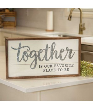 Together Is Our Favorite Place Shiplap Frame 19.5 l x 1.5  dp x 10.25 h in.