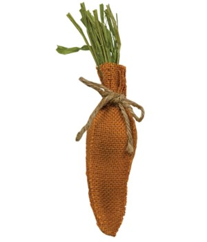 Small Burlap Stuffed Carrot 7-3/4  x 1-1/2  in.