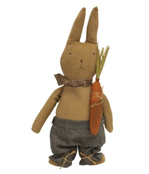 Standing Bunny w/ Carrot, 15.5 inch 15.5 in.