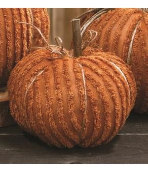 Orange Chenille Pumpkin, 6  6 x 6 x 5.5 in.