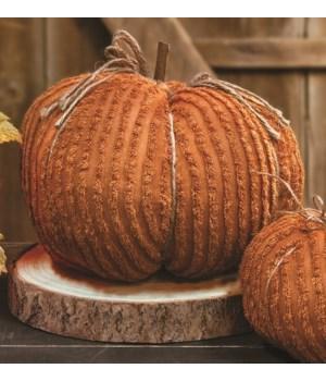 Orange Chenille Pumpkin, 9.5  8 x 8 x 8 in.