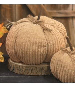 Cream Chenille Pumpkin, 9.5  8 x 8 x 8 in.