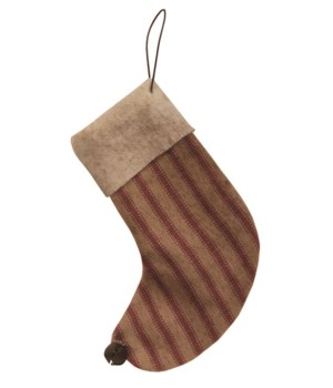 4-1/2  Gingham Stocking Ornament 4.5  h x 3 w x .8l in.