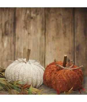 Mini Chenille Pumpkin, 2 Asstd. 3 x 3 x 2 in.