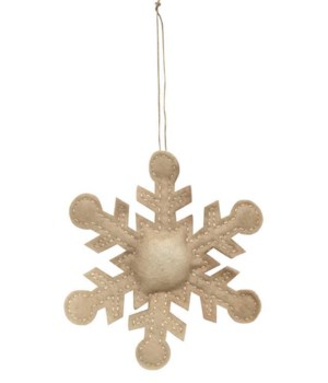 Antique Snowflake Ornament 4 h in.