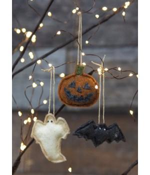 3/Set, Mini Felt Halloween Ornaments