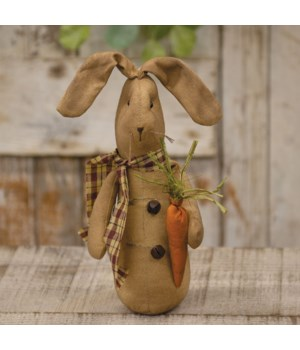 Bernie Bunny With Carrot 4 w x 3.75 dp x 9 h in.