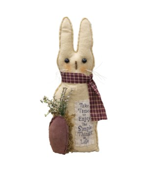 Simple Things Bunny 12.5 h x 4.5 w x 3 D in.
