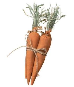 4/Set, Primitive Fabric Carrots 1.5  d x 10 h in.