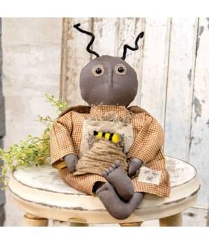 Primitive Bee Doll 7 l x 3  w x 15 G in.