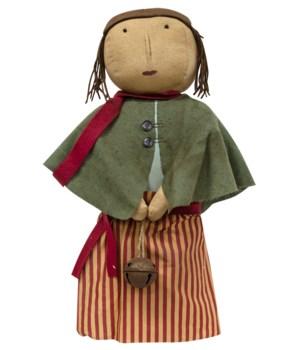 Christmas Caroller Doll 5.25  x 19 h in.