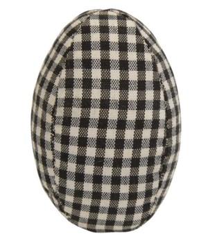 Black & White Gingham Egg 2 dia x 3 h in.