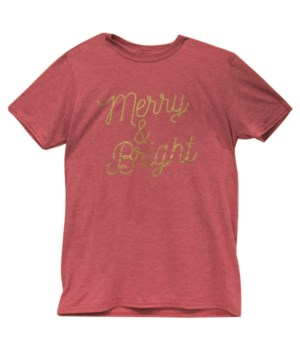 Merry & Bright T-Shirt (Gold Ink), XXL