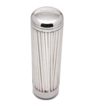 50 pc Paper Straw Chrome Dispenser (Sleeve)