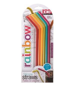 Silicone Straws (6 pc Card)