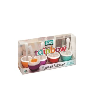 Rainbow Egg Cups & Spoons