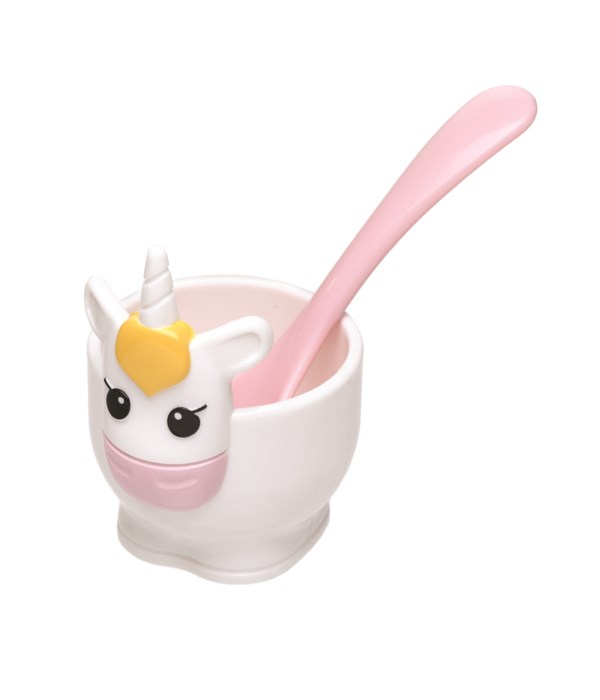 Unicorn - Egg Cup & Spoon (Card)