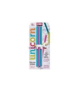Unicorn - Silicone Straws (8 pc Card)