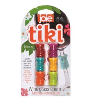 Tiki - Wine Glass Charms (6 pc Card)