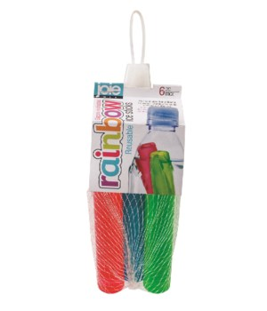 Rainbow Reusable Ice Sticks (6 pc card)