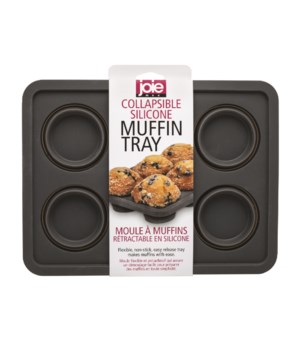 Silicone Collapsible 6 Muffin Tray (Sleeve)