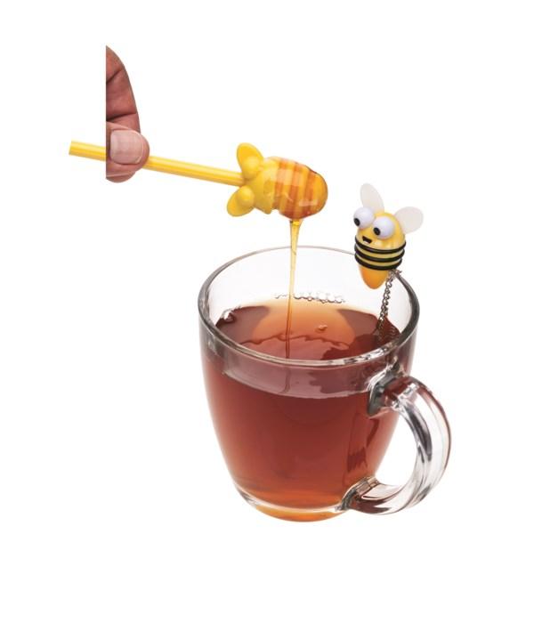 Bee Tea Infuser & Honey Dipper (Giftbox)