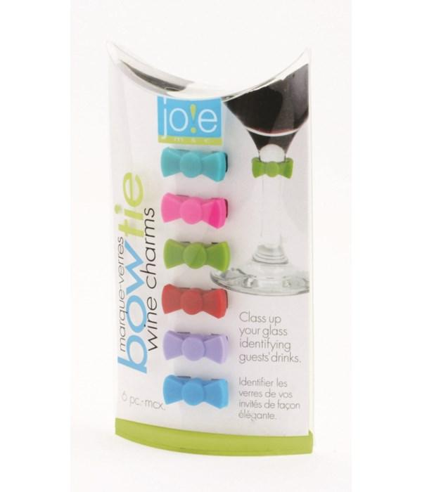 Bowtie - Wine Charms (6 pc Giftbox)