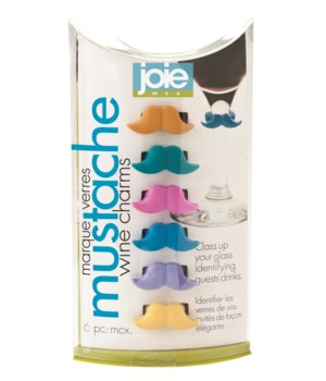 Mustache - Wine Charms (6 pc Giftbox)