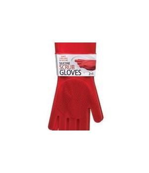 Silicone Scrub Gloves (Card)