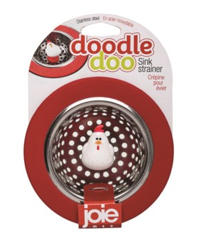Doodle Doo Stainless Steel Sink Strainer (Card)