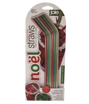 Noel - Stainless Steel Straws (6 pc Card)