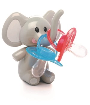 PACIFIER HOLDER - ELEPHANT GREY EARS