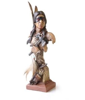 NATIVE AMERICAN Warrior 14 in. H