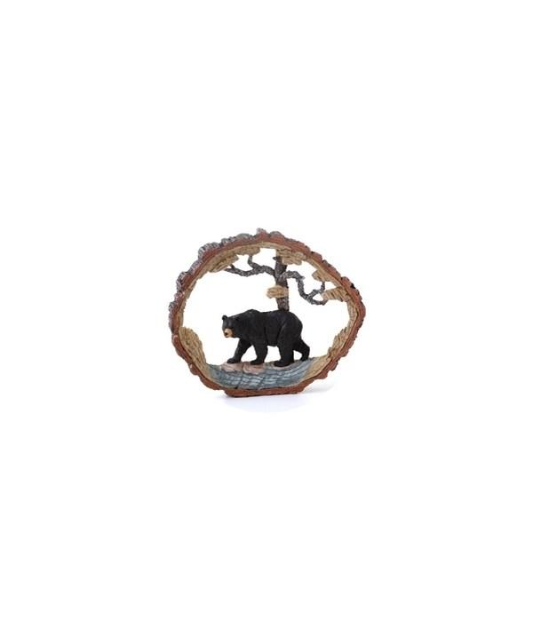 Wood Carving Black Bear - 8.5 in. W