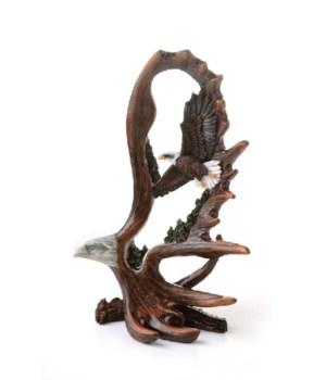 Eagle Antler Carving  6 in. H
