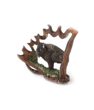 Buffalo Antler Carving/ Sm. 5 in. H