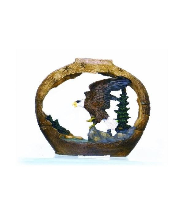 SMALL EAGLE / POTTERY CUTOUT S/6 - 4 in.