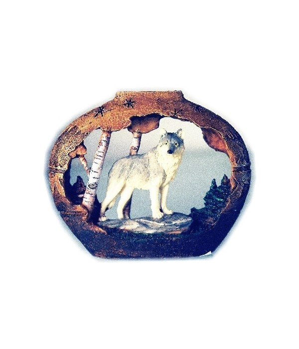 SMALL WOLF / POTTERY S/6 - 4 in.