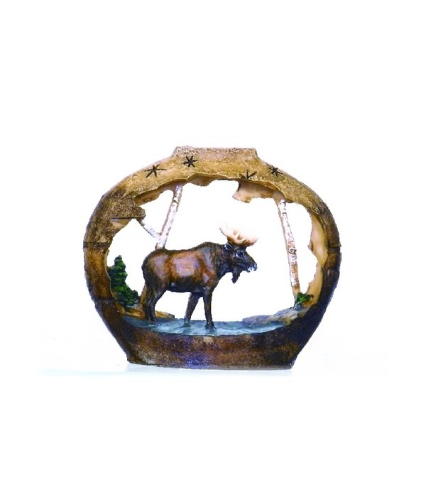 SMALL MOOSE / POTTERY CUTOUT S/6 - 4 in.