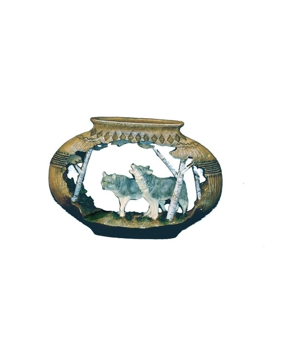 WOLF / POTTERY CUTOUT 9 in. W