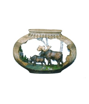 MOOSE / POTTERY CUTOUT 9 in. W
