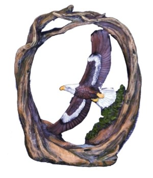 SOARING EAGLE / TWISTED WOOD 6 in. H