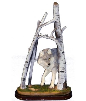 WOLF IN TREES 9 in.