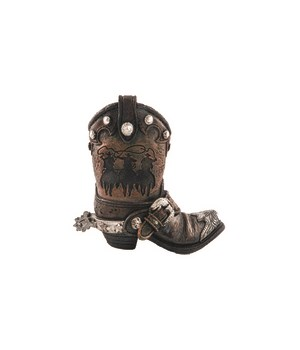 Western riders boot pencil cup 4.5 in. H