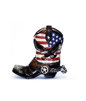 BOOT W/ EAGLE & FLAG PENCIL CUP 4.5 in.