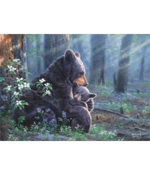 Puzzle in Tin 1000-Piece - Bear Scene 20 x 28 in.