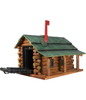Mailbox - Log Cabin 20.5 x 9 x 7 in.