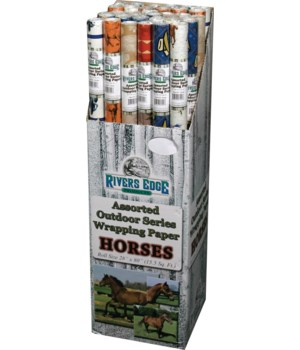 M36 Gift Wrap - Horse Assortment  30 x 96 in.