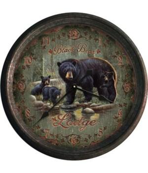 Clock 15 in. - Black Bear Lodge