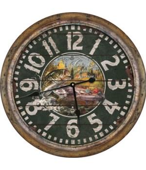 Clock 26 in. - Distressed Fishing